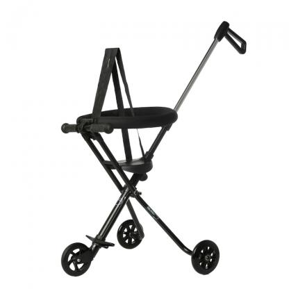 Triciclo Plegable Ultra Ligero Mundo Petit - Negro Perfil