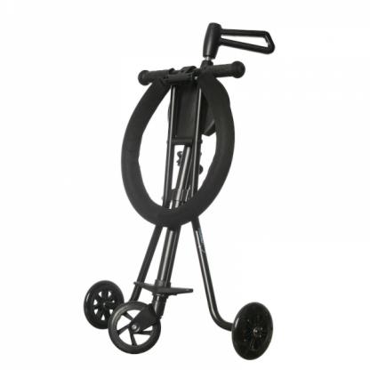 Triciclo Plegable Ultra Ligero Mundo Petit - Negro Lateral Plegado