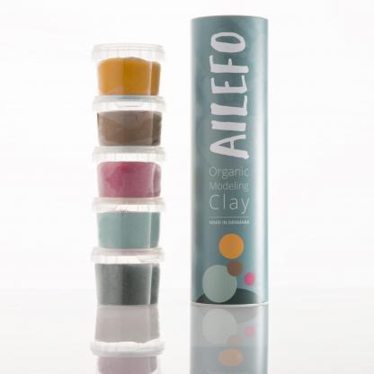 Plastilinas: Tubo de Arcilla Orgánica, 5 Colores - Ailefo - 100g Modelos