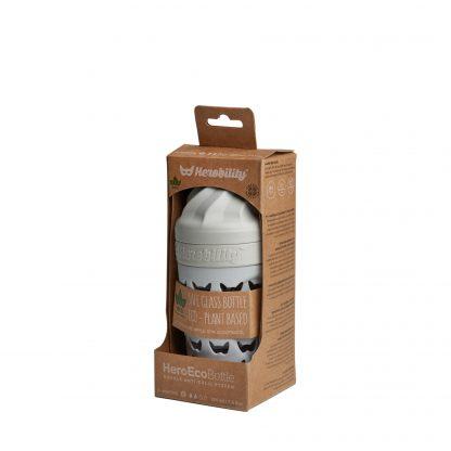 Biberones de Cristal Herobility - Mist Gray, 220 ml, Empaque