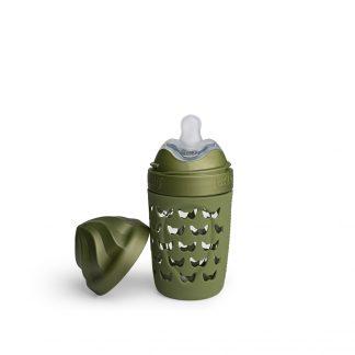 Biberones de Cristal Herobility verde, 220 ml