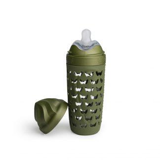 Biberones de Cristal Herobility Verde, 320 ml
