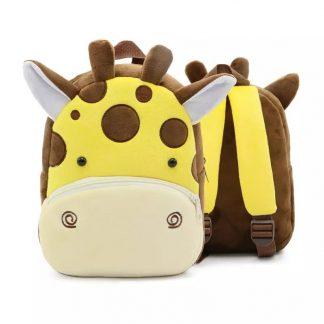 Mochilas para Niños Animales 3D - Jirafa - Frontal y Posterior