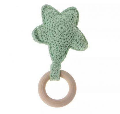 Mordedores para Bebés Estrella - Algodón 100% - Verde