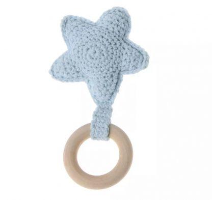 Mordedores para Bebés Estrella - Algodón 100% - Azul