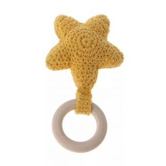 Mordedores para Bebés Estrella - Algodón 100% - Amarillo