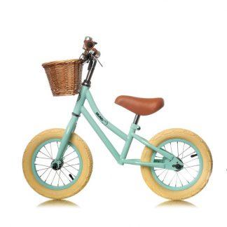 "Bicicleta de aprendizaje sin pedales Mundo Petit 12'5"" - Mint Perfil"