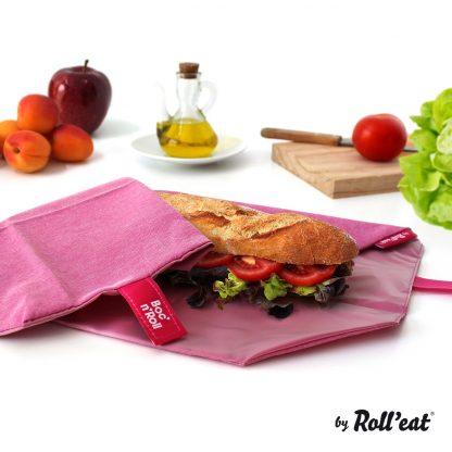 Porta Alimentos Boc'n'Roll - Roll'Eat - Eco Violet Sandwich