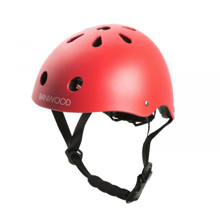 casco bicicleta rojo mate banwood
