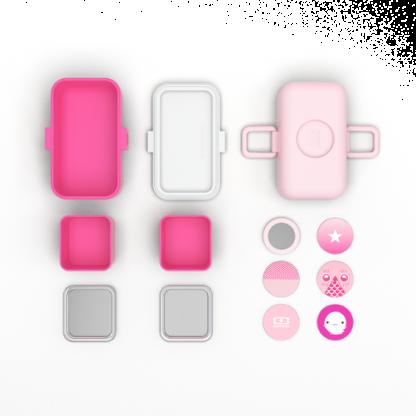 Caja Bento Infantil Monbento Tresor - Moutarde Pink Detalles