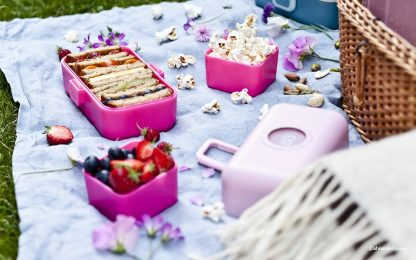 Caja Bento Infantil Monbento Tresor - Moutarde Pink Muestra 3
