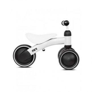 Bicicleta Correpasillos de Aprendizaje - Blanca - Mini Kazam, Perfil