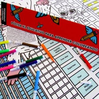 Póster XL de Pekëroll - Educativo para Aprender Coloreando de Pekëroll