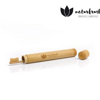 Pack Estuche de Fibra de Bambú y Cepillo - Naturbrush