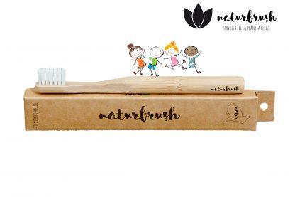 Cepillo de Dientes de Bambú para Niños - Naturbrush KIDS Natural
