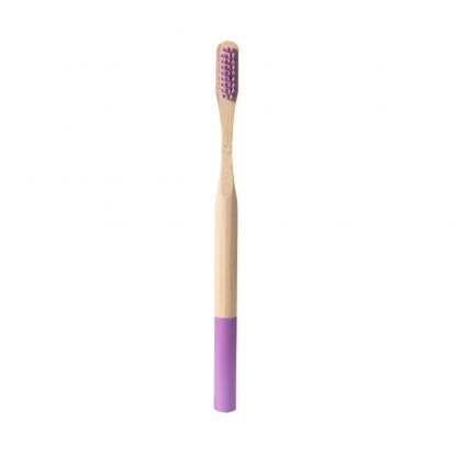 cepillo de dientes de bambu morado