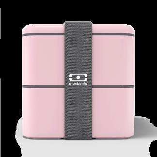 Caja Bento Cuadrada - Monbento Square - Rosa Cuadrada Frontal