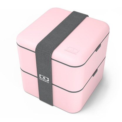 Caja Bento Cuadrada - Monbento Square - Rosa Cuadrada Diagonal