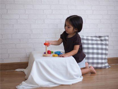 juguete madera apilable