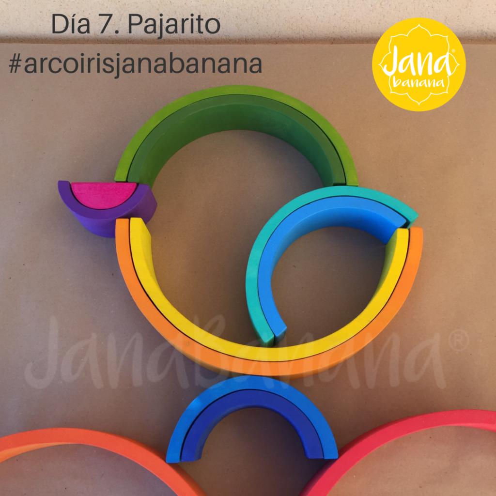 forma 7 con el arcoiris waldorf