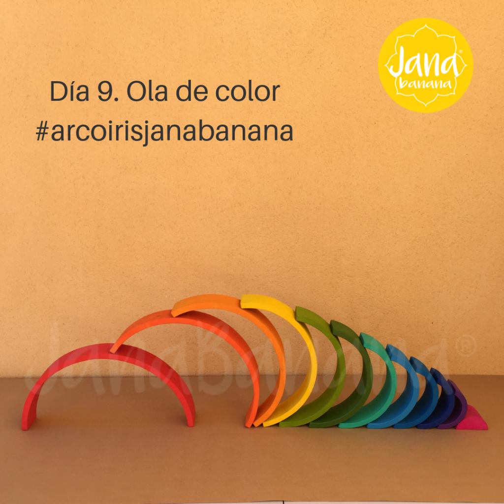 forma 9 con el arcoiris waldorf