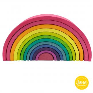 arcoiris waldorf 12 piezas rosa janabanana