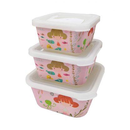 Set 3 Tupper Infantiles de Bambú - Sirena