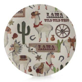plato llano bambu llama JanaBanana