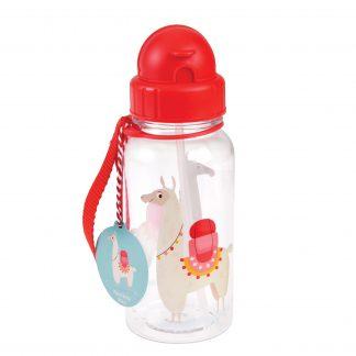 botella plastico con pajita llama rex london janabanana
