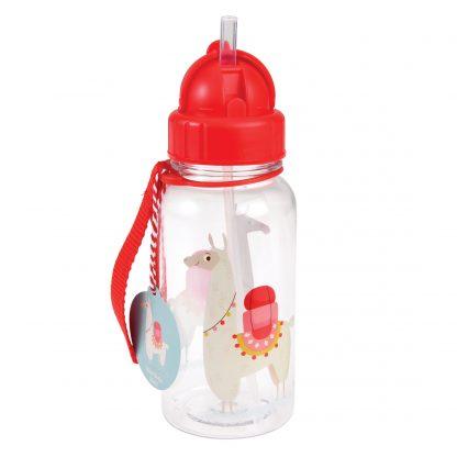 botella plastico con pajita llama rex london janabanana 2