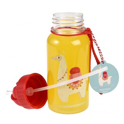 botella plastico con pajita llama rex london janabanana 3