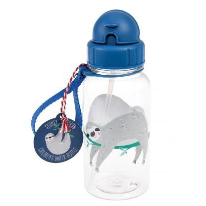 botella plastico con pajita perezoso rex london janabanana
