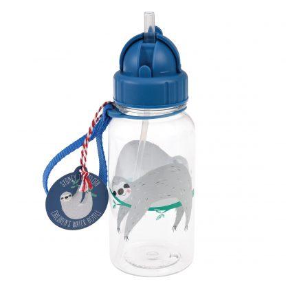 botella plastico con pajita perezoso rex london janabanana 2