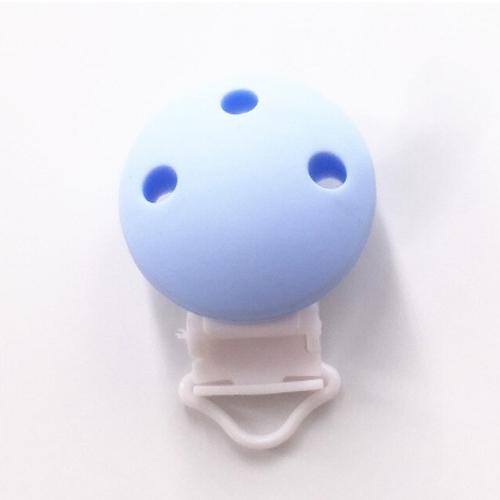 clip silicona azul pastel