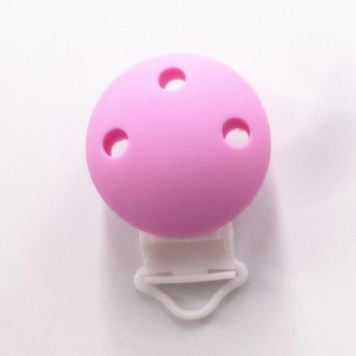 clip silicona lila