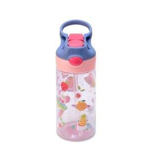 botella de tritan con boton frutas 450ml