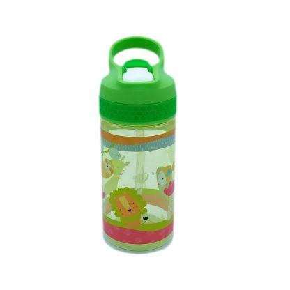 botella para niños tritan con boquilla animales