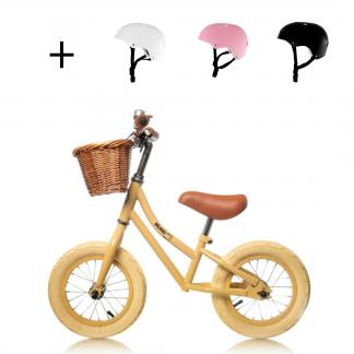 "Bicicleta Sin Pedales de Aprendizaje Mundo Petit 12'5"" - Mostaza Perfil"