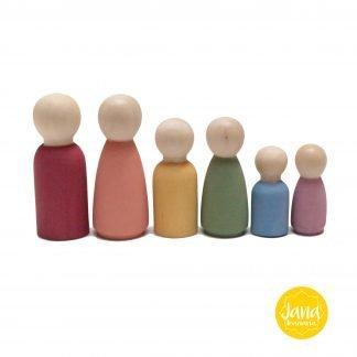 6 nins familia en colores pastel JanaBanana