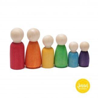 6 nins familia en colores vivos JanaBanana