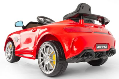coche-electrico-rojo-mercedes-amg-asiento-descapotable