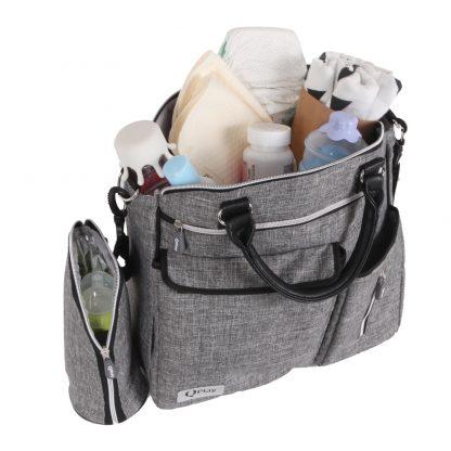Bolso para-bebé-QPlay-Practical-gris-claro