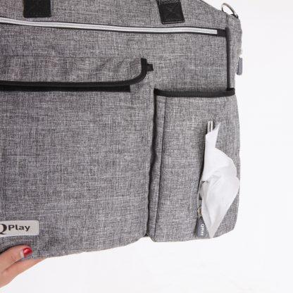 Bolso para-bebé-QPlay-Practical-gris-claro-barata
