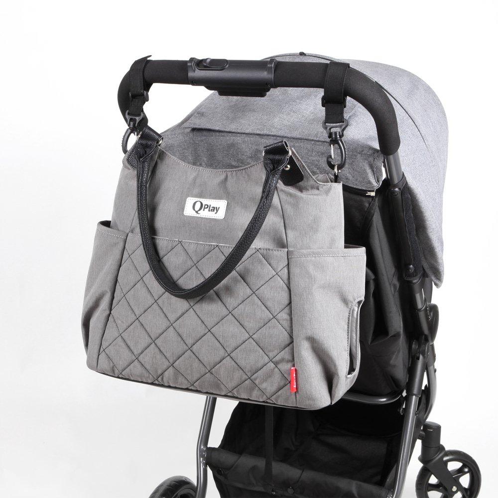 triciclos QPLAY Bolso cambiador beb/é Practical Gris claro