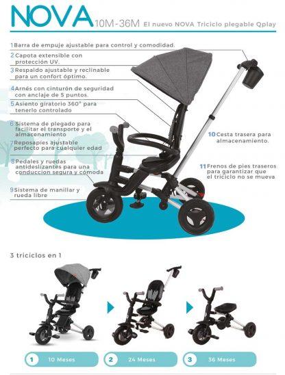 triciclo-plegable-qplay-rojo-3-en-1