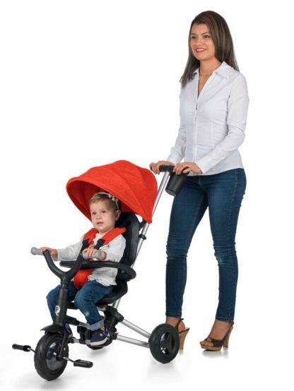 triciclo-plegable-qplay-rojo-manejable