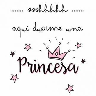 lámina personalizada aquí duerme una princesa2