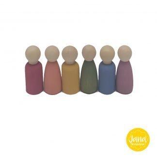 set 6 Nins tonos pastel