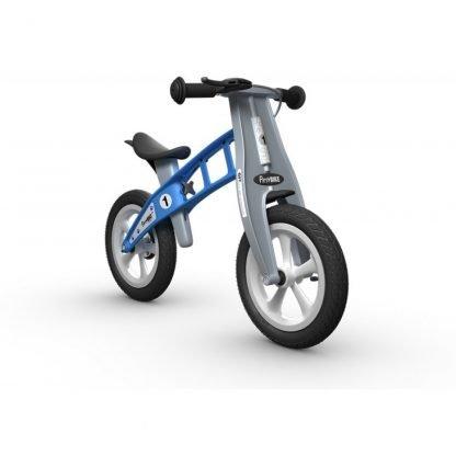 bicicleta de equilibrio azul janabanana