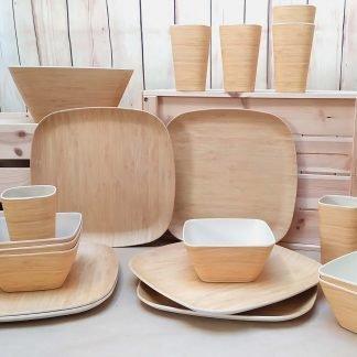Vajilla Bambú Natural